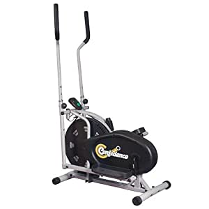 Confidence Elliptical Cross Trainer with Computer - Black
