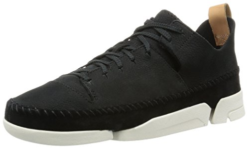 Clarks Originals Trigenic Flex, Damen Sneakers, Schwarz (Schwarz Nubuck), 39 EU (5.5 Damen UK)