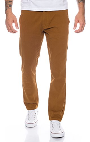 Rock Creek Herren Designer Chino Hose Regular Slim Chinohose RC-390 Camel W31 L30 - Skinny Rock