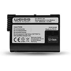 Weiss More Power + Batterie Li-ION pour Nikon EN-EL15b 2050 mAh Compatible avec Nikon Z6 et Nikon Z7 [Compatible avec Nikon EN-EL15a et Nikon EN-EL15]