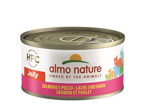 Almo Nature HFC Jelly Katzenfutter - Lachs und Huhn 24x70 g