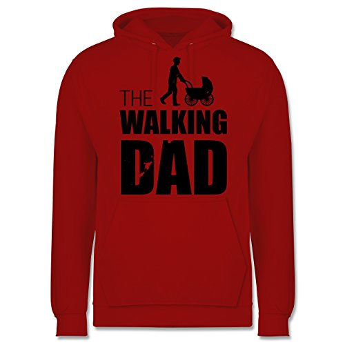 Vatertag - The Walking Dad - Herren Hoodie Rot