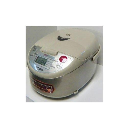 In Made Reiskocher Japan (TIGER Außerhalb von Japan IH jar Reiskocher Far rote Wasserkocher Drei-Schicht- gekocht (55.5gou kochen) JKW-A10W(S)/220V)