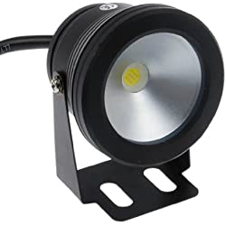 LemonBest® 10W 12V Negro IP68 impermeable llevó la luz subacuática Flood Para Paisaje fuente del estanque de la piscina de iluminación, Blanco frío