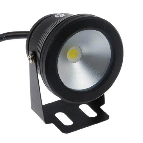 Preisvergleich Produktbild LemonBest® 10 W 12 V Schwarz IP68 Unterwasser Wasserdicht führte die Licht Flood für Landschaft Quelle Teich-Pool-Beleuchtung,  kühles Weiß