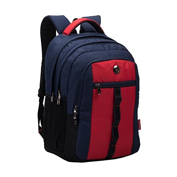 COSMUS Polyester 33 Ltr Navy Blue School Backpack