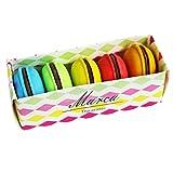 Lot de 5gommes fantaisie - En forme de macarons multicolores