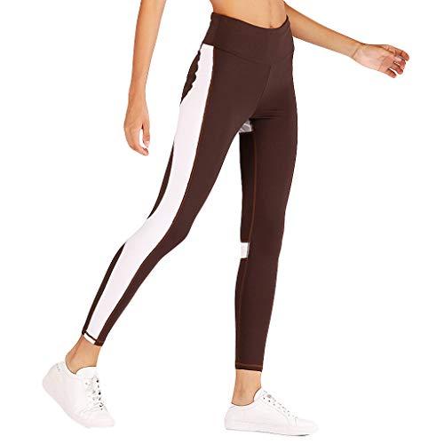 XZDCDJ Lange Yogahose Damen High Waist Skinny Hose Ladies 'High Waist und Hip Digital Printed Bottoms Laufen Fitness Yoga Pants(Kaffee,XL) -