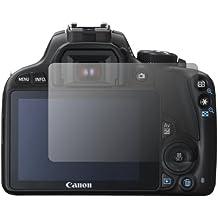 """2 x Slabo protector de pantalla Canon EOS 100D lámina protectora de pantalla lámina protectora """"Ultra Transparente"""" invisible MADE IN GERMANY"""
