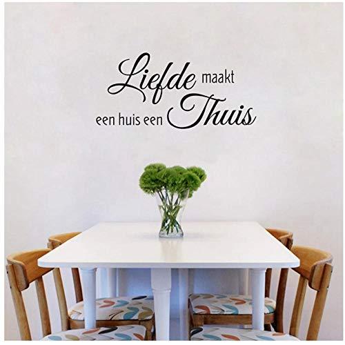 Style Home Decor Familienzitat Vinyl Wandaufkleber Wohnzimmer Aufkleber Nederlands Dekoration ()