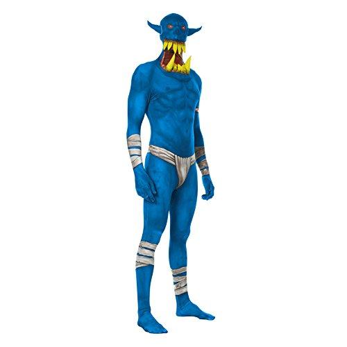 Morphsuits ML Orbx - Costumi Blu Orco Jaw Dropper Morphsuit adulti XL 5 pollici 9-6 pollici 1, 180 cm - 186 cm, XL, Multi