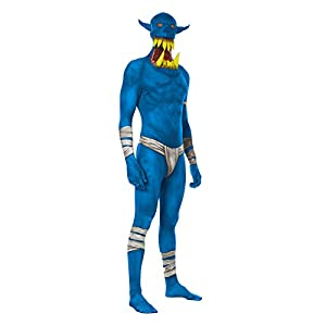 Morphsuits MLORBX - Disfraces azul Orco mandíbula cuentagotas Morphsuit Adulto XL 5 pulgadas 9-6 pulgadas de 1, 180 cm - 186 cm, XL, Multi