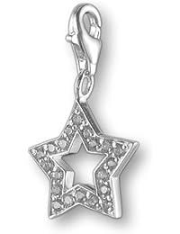 Melina Damen-Charm Anhänger Stern Zirkonia 925 Sterling Silber 1800861