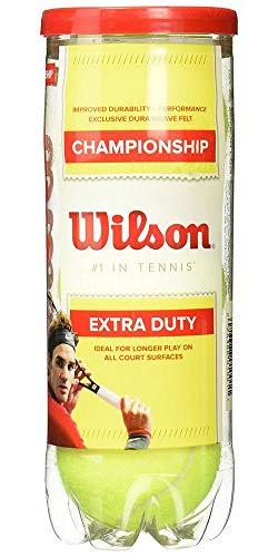 Wilson Championship Extra Duty, Palline da Tennis per Tutte Superfici di Gioco Unisex – Adulto, Giallo, 3 Pezzi