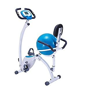 414iiC57YzL. SS300  - Sumferkyh Indoor Cycling Home Magnetic Control Car Ribbon Car Office Fitness Folding Magnetic Control Rotating Prismatic Spinning Bicycle - Yoga Ball Cushion Calories
