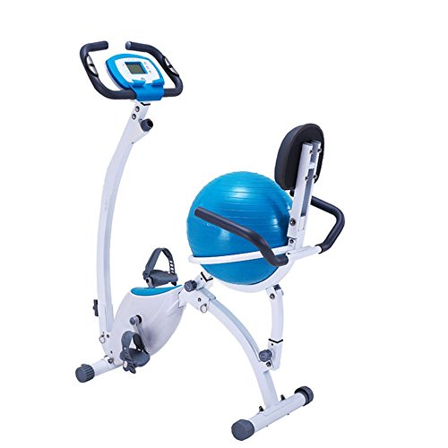 414iiC57YzL. SS500  - Sumferkyh Indoor Cycling Home Magnetic Control Car Ribbon Car Office Fitness Folding Magnetic Control Rotating Prismatic Spinning Bicycle - Yoga Ball Cushion Calories