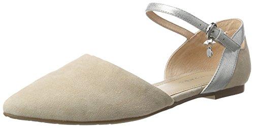 Belmondo Sandalen-damen, Elfenbein Chaussures À Lacets Pour Femmes Avec T-strap (cream)