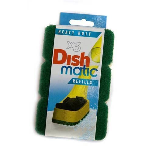 9 Heavy Duty Dishmatic Green Refill Sponges