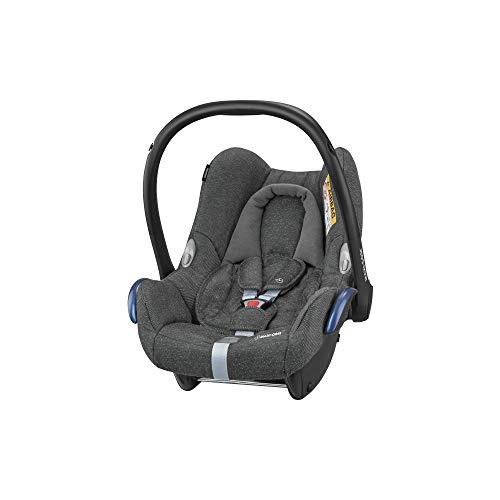 Maxi-Cosi CABRIOFIX \'Sparkling Grey\' - Silla de auto reclinable y de alta seguridad para tu bebé, homologada R44/04, 0-12 meses, 0-13 kg, gr.0+, color gris