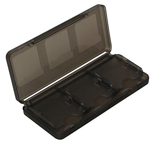 Timorn 6 in 1 Game Memory Card Schutzhülle Hartplastik Aufbewahrungsbox Halter für Nintendo 3DS (Schwarz)