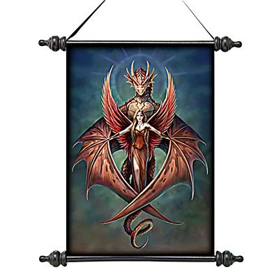 Design Toscano CL7513014 Copperwings Fairy Canvas Wall Scroll Tapestry by Artist Anne Stokes - inexpensive UK light shop.