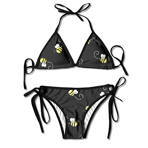 bb2cae0b41 Fashion Bees Black Women Swimwear Bandage Bikini Set Push-up Padded Bra  Swimsuit