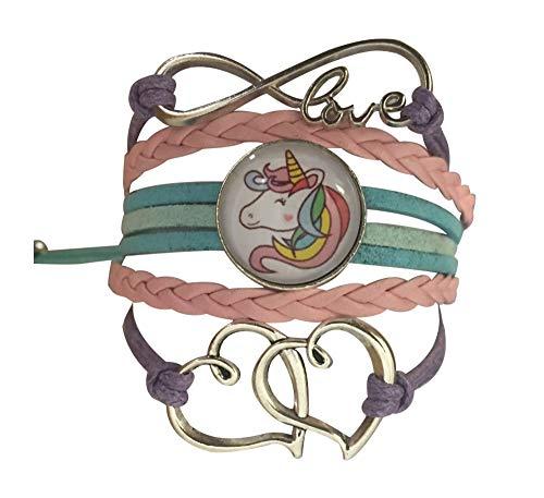 (Collection Infinity Mädchen Einhorn Charm Armband Einhorn Schmuck für Mädchen)