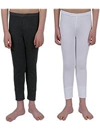 Lot de 2 sous-vêtements thermosensibles pour garçons, 1 caleçon long blanc et 1 charbon, tailles variées