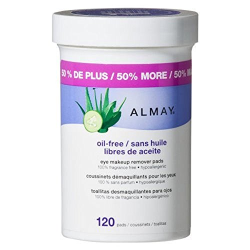 Almay Oil Free Gentle Eye Makeup Remover Pads, 120 ct