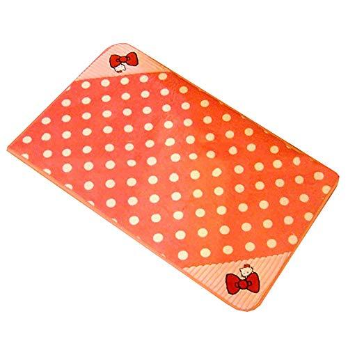 GWFVA Mickey Coral Velvet Butterfly Hallo Kitty Kt Wave Point Teppich Fußmatte Fußmatte Fußmatte Küche Matte -