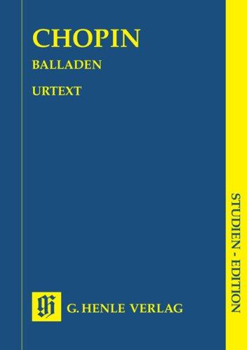Balladen, Klavier, Studien-Edition