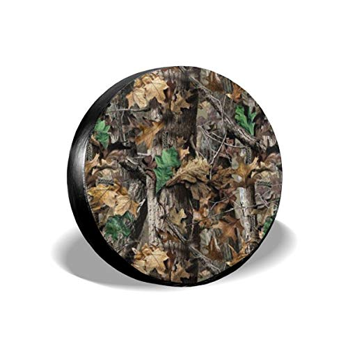Bag hat Tire Cover Free Realtree Camo Polyester Universal Spare Wheel Tire Cover Wheel Covers Jeep Trailer RV SUV Truck Camper Travel Trailer Accessories 16 inch