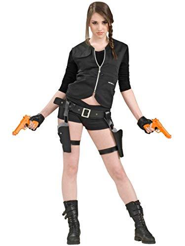 Lara Croft Halloween - Forum Schatz-Jägerin Gürtel und Pistolen schwarz-orange