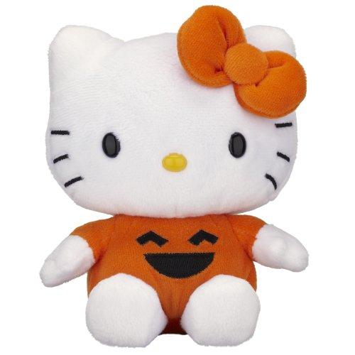 Jakks Pacific Hello Kitty Halloween Plüsch-14cm-Halloween-Kürbislaterne (Hello Kitty E Halloween)