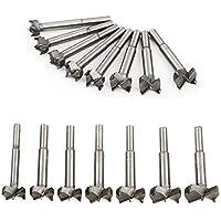 CUSFULL Brocas de acero Juego de 16 piezas Barrena mini para madera Hojas afiladas para cinceles, Herramientas de DIY para agujero