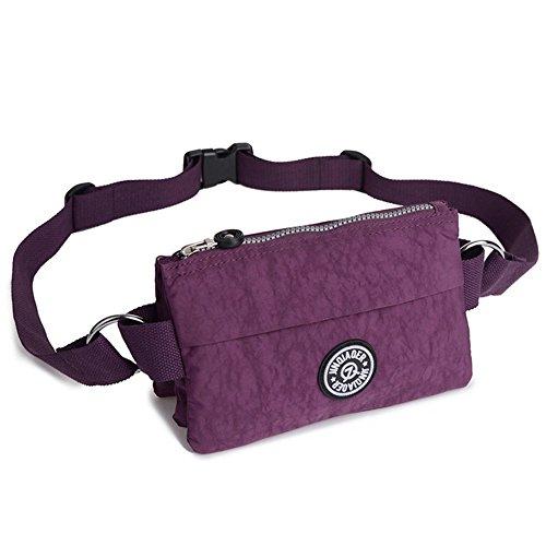 Dreambox Donna Sport poliestere multifunzione Marsupio Leggero Da Corsa Purple