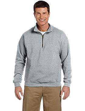 Gildan Adult Vintage 1/4 Zip Sweatshirt/18800, Felpa da Uomo, Manica Lunga