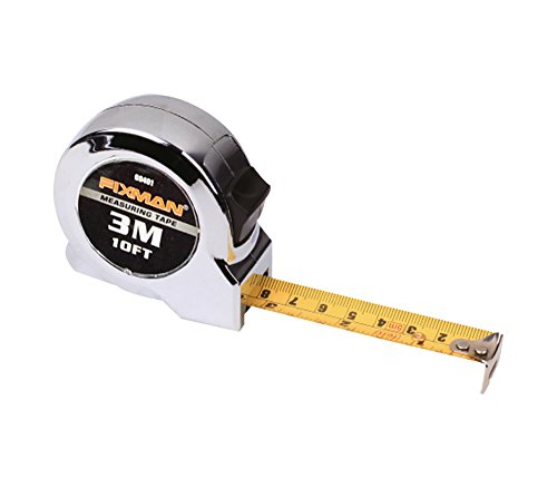 Preisvergleich Produktbild Messband 3 m, einrollbar, flexibles Stahlgliedermaßstab, Metermaß mit metrischer und englischer Vermessung, Gehäuse aus ABS-Plast