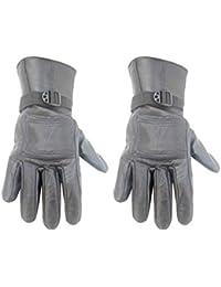 Modish Black Color Self Design Winter Men's Gloves