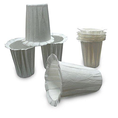 50 Einweg-Kaffee-Filter Pappbecher geformt K-Tasse Weiß
