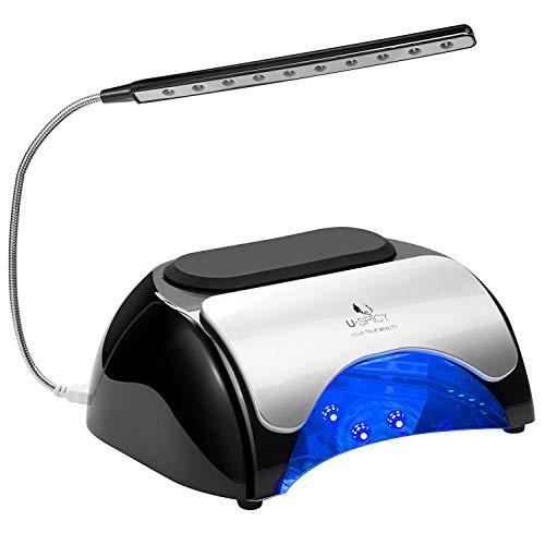 USpicy Lampe UV LED et CCFL 48W Lampe UV Ongles Gel, Sèche Ongles avec Port USB, Minuterie Automatique de 30s/60s/120s, Pour Vernis à Base de Gel, Gel LED et Vernis LED, Vernis UV,etc