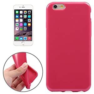 Pure Color Pattern TPU Case for iPhone 6(Magenta)