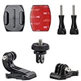woleyi Action Camera Accessories, Adhesived Curved & Flat Mounts with Buckle, 1/4 Screw Thread with Thumb Screw, Compatible with Gopro Mounts And all Cameras …
