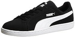 Puma Unisex Smash Nubuck Black and White Boat Shoes - 8 UK