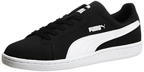 1. Puma Unisex Smash Nubuck Black and White Boat Shoes
