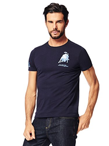 Automobili Lamborghini Offiziell Herren T-Shirt Bull 1963 Lamborghini Blue L - Lamborghini-shirt