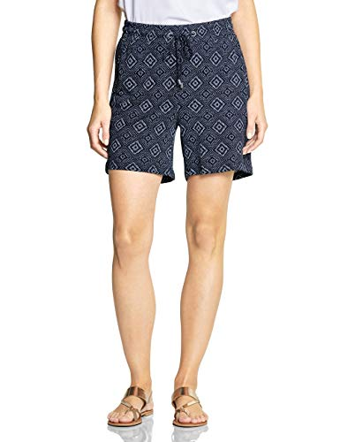 CECIL Damen 372314 Chelsea Shorts, Mehrfarbig (deep blue 20128), One Size(Herstellergröße:XXL)