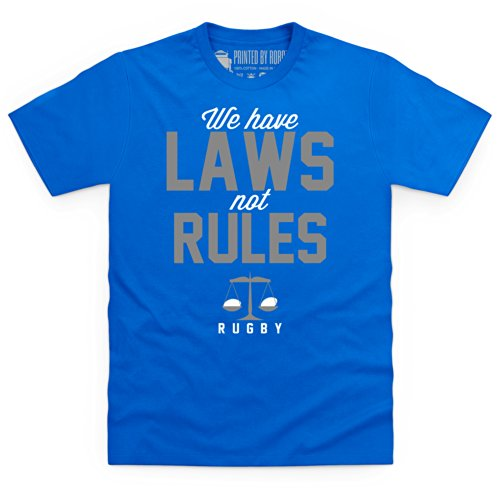Laws Not Rules T-Shirt, Herren Royalblau