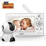 Bable Babyphone mit Kamera, 720P 5 Zoll Video Babyfon mit Infrarotkamera, Fernsteuerungs, Temperatur-Monitor, Zwei-Wege-Gespräch, bis zu 270 Meter