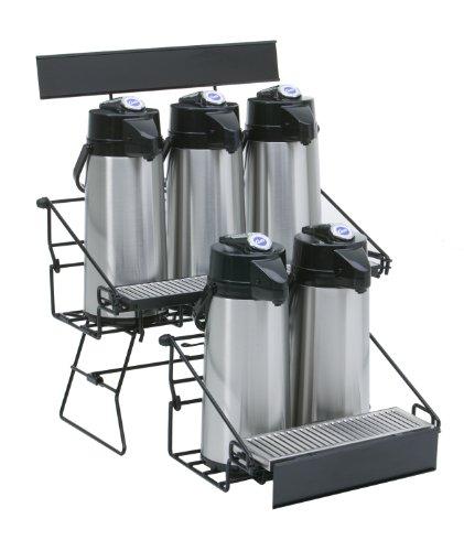 Wilbur Curtis WR5B0000 Airpot Rack mit 5 Positionen, kompaktes Design mit integrierter Abtropfschale